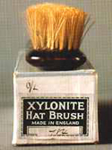 Hat brush made by the British Xylonite Co. 1920s