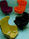 Rigid pu chair shell and chairs