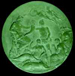 Green moulded plaque