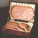 Halex brush, comb, mirror & tray set 1930s - 50s