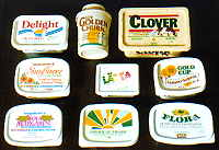 Margarine tubs made from polystyrene