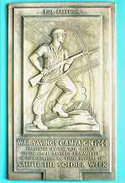 Salute the Soldier Week, 1944, plaque made by De La Rue Plastics